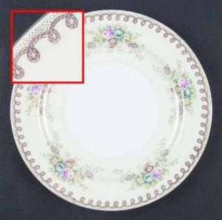 Royal York (Japan) Clinton Dinner Plate, Fine China Dinnerware   Rope On Border