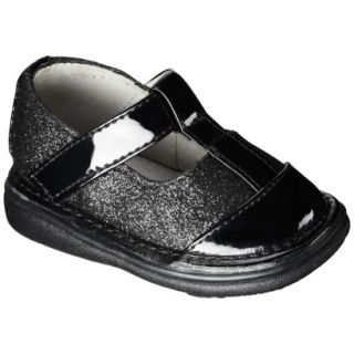 Girls Wee Squeak Sparkle T Strap Mary Jane Shoes   Black 10