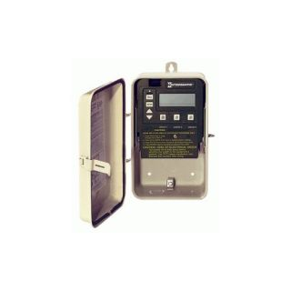 Intermatic PE153PWF Timer, 120/240V 3Circuit Digital Control Panel w/ Wired Remote amp; Freeze Probe in Raintight Case