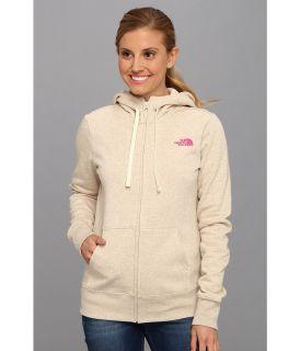 The North Face EMB Logo Full Zip Hoodie Womens Sweatshirt (Beige)
