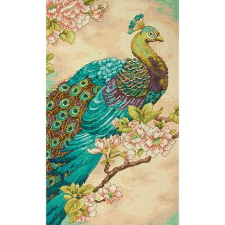 Indian Peacock Counted Cross Stitch Kit 9x15