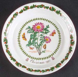 Portmeirion Botanic Garden 1995 Annual Christmas Plate, Fine China Dinnerware