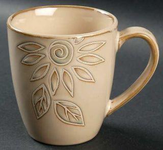 Pfaltzgraff Daisy Chain Mug, Fine China Dinnerware   Embossed Flowers On Cream,R