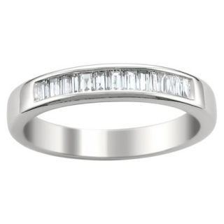 1/2 CT. T.W. Baguette Diamond Band Channel Set Ring in 14K White Gold (G H, VS1