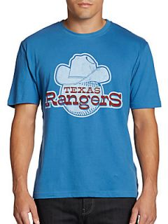 Vintage Inspired Texas Rangers T Shirt   Blue