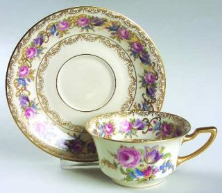 Rosenthal   Continental Vienna Flat Cup & Saucer Set, Fine China Dinnerware   Co