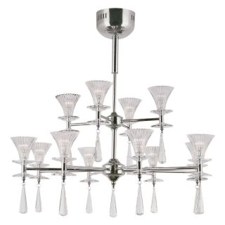Trans Globe MDN 928 Chandelier   Polished Chrome   29.25W in. Multicolor   MDN