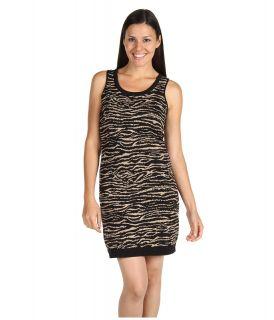Mac & Jac Animal Jacquard Dress Womens Dress (Black)
