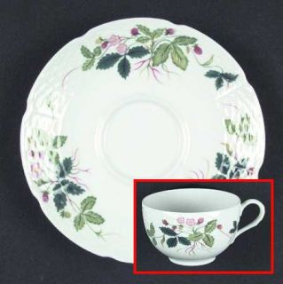 Ceralene George Sand  Flat Cup & Saucer Set, Fine China Dinnerware   Flowers Not