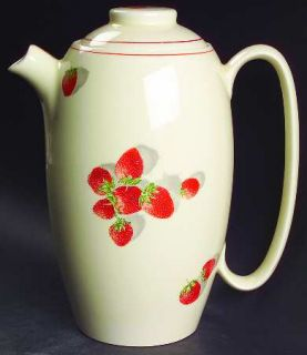 WS George Shortcake Coffee Pot & Lid, Fine China Dinnerware   Strawberries,One R