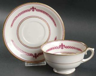 Lamberton Marie Louise Footed Cup & Saucer Set, Fine China Dinnerware   Laurel&F