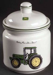 Gibson Designs John Deere (Tractor) Large Canister, Fine China Dinnerware   Gree