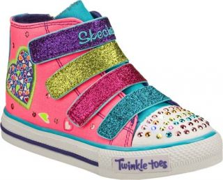Infant/Toddler Girls Skechers Twinkle Toes Shuffles Loving Hoots   Pink/Multi V