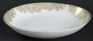 Bristol (Japan) Rene Coupe Soup Bowl, Fine China Dinnerware   Gold/White Flowers