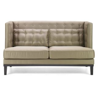 Armen Living NOHO Champagne Fabric Loveseat Multicolor   LC10062CA
