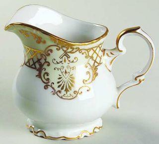 Lipper & Mann (L & M) Golden Symphony (L & M) Creamer, Fine China Dinnerware   G