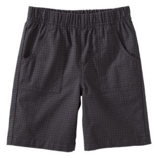 Circo Infant Toddler Boys Checked Chino Short   Charcoal 18 M