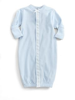 Royal Baby Infants Ribbon and Dot Convertible Gown/Blue   Blue