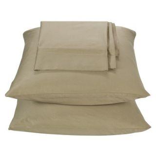 Threshold 325 Thread Count Organic Cotton Pillowcase Set   Tan (Standard)