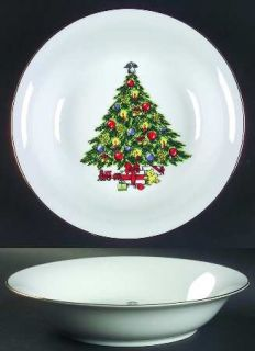 Jamestown Christmas Treasure 9 Round Vegetable Bowl, Fine China Dinnerware   Ch
