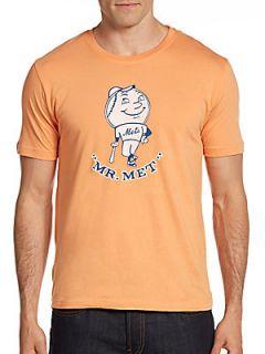 Vintage Inspired Mr. Met T Shirt   Orange