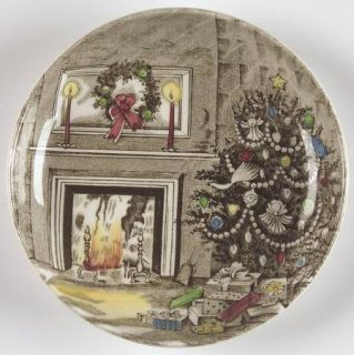 Johnson Brothers Merry Christmas (Genuine Hand Engraving) Coaster, Fine China Di