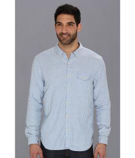 Lucky Brand Blue Ridge 1 Pocket Mens Long Sleeve Button Up (Navy)