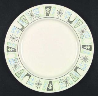 Taylor, Smith & T (TS&T) Cathay Dinner Plate, Fine China Dinnerware   Green/Blue