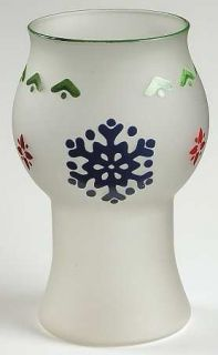 Pfaltzgraff Nordic Christmas Glass Pillar Float Candleholder, Fine China Dinnerw