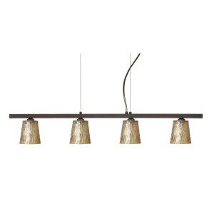 Besa Lighting BEL 4LP 5125GF BR Nico 4 Island Light