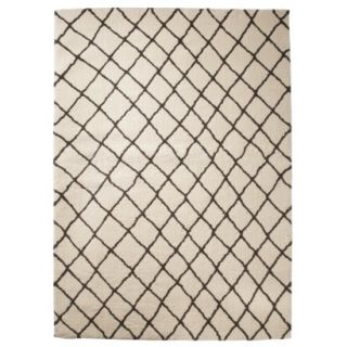 Threshold Criss Cross Fleece Rug   Cream (5x7)