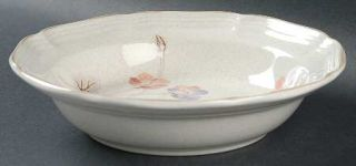 Mikasa Wild Fields Soup/Cereal Bowl, Fine China Dinnerware   Purple&Peach Flower
