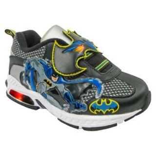 Toddler Boys Batman Light Up Sneakers   Black 8