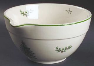 Spode Christmas Tree Green Trim Mixing Bowl, Fine China Dinnerware   Newer Backs