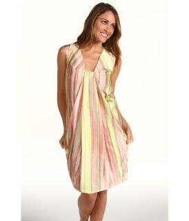Anne Klein Painted Stripe Print Dress Womens Dress (Multi)