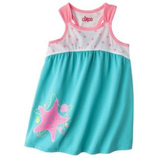 Circo Infant Toddler Girls Starfish Sun Dress   Turquoise 5T
