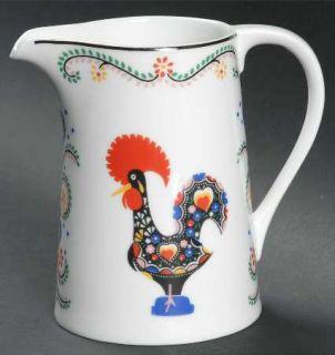 Block China Daybreak Creamer, Fine China Dinnerware   Multicolor Rooster, Hearts