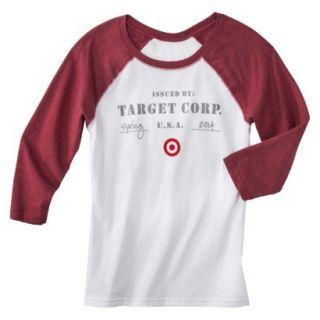 Juniors Issued Brand 3/4 Sleeve Raglan T shirt   XL
