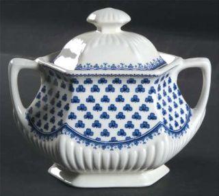 Adams China Brentwood (Adams Backstamp) Sugar Bowl & Lid, Fine China Dinnerware
