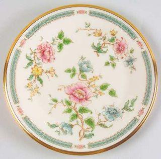 Lenox China Morning Blossom Salad Plate, Fine China Dinnerware   Pink,Blue&Yello