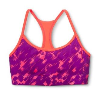 C9 by Champion Womens Reversible Compression Cami Bra   Purple/Sunset Print M