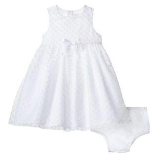 TEVOLIO Newborn Girls Dress   White 9 M