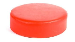 Oak Street Mfg Replacement Button Top Bar Stool Seat, Red Vinyl