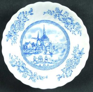 Johnson Brothers Tulip Time Blue (White Background) Fruit/Dessert (Sauce) Bowl,