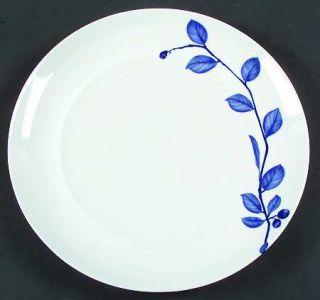 True Blue Dinner Plate, Fine China Dinnerware Blue Leaves/Berries On Wh