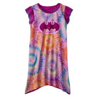 Batgirl Girls Short Sleeve Nightgown   Purple XS