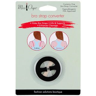 Miss Oops Bra Converter (pack Of 6) (1.69 inches long x 1.69 inches wide x .1 inch high We cannot accept returns on this product.Due to manufacturer packaging changes, product packaging may vary from image shown. )