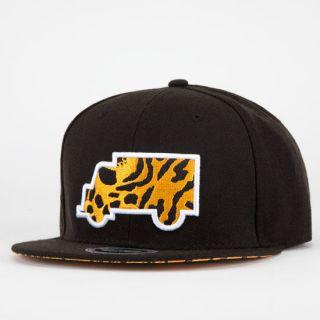Modern Classic Mens Strapback Hat Black/Leopard One Size For Men 2094971