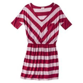 Mossimo Supply Co. Juniors V Neck Dress   Cranberry Zing L(11 13)