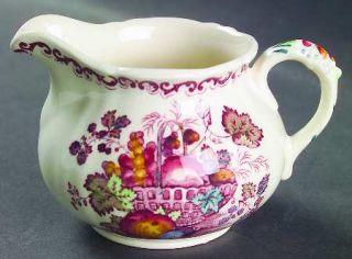 Franciscan Fruit Basket Creamer, Fine China Dinnerware   Pink/Multicolor Fruit,